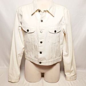Vintage Women's White Jean Jacket